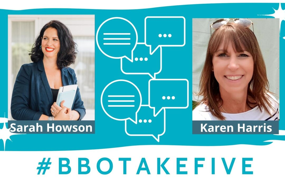 #BBOTakeFive with Karen Harris