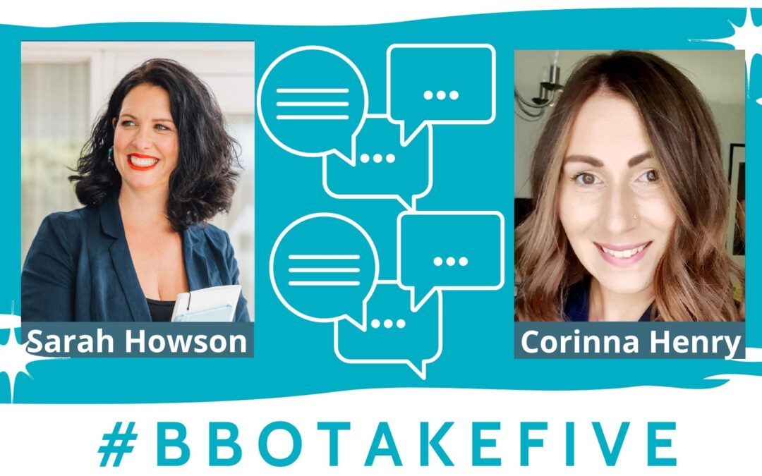 #BBOTakeFive with Corinna Henry