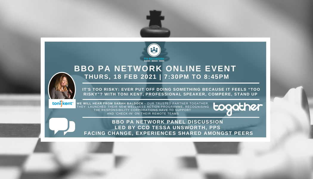 February 18, 2021 | BBO Event Blog | Toni Kent 'It's Too Risky' | BBO PA Network Panel