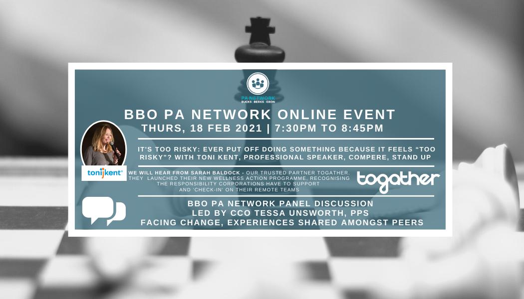 February 18, 2021 | BBO Event Blog | Toni Kent 'It's Too Risky' | BBO PA Network Panel