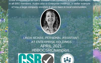#BBOCSRChampion – April 2021 – Linda McKee, Enterprise Holdings
