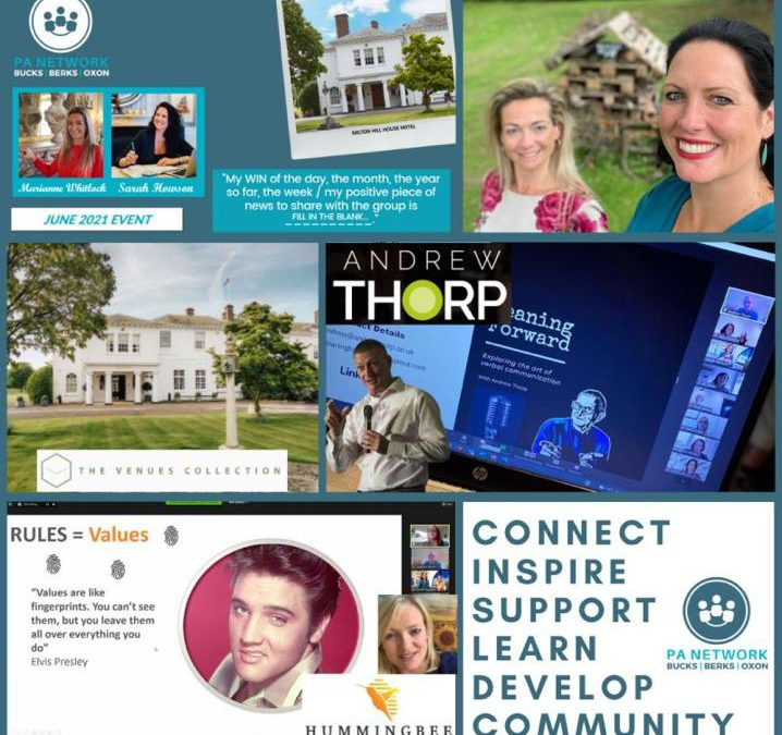 The BBO PA Network June online event | Andrew Thorp 'Storytelling' | Alice Carroll 'Life Gaming' | LIVE from Milton Hill House Hotel, Oxfordshire
