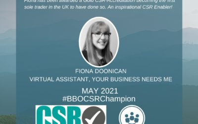 #BBOCSRChampion – May 2021 – Fiona Doonican, Virtual Assistant 'Your Business Needs Me'